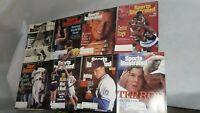 Lot of 8 '90's Sports Illustrated: Joe Montana, Barry Bonds, Joe Dimaggio Cover+
