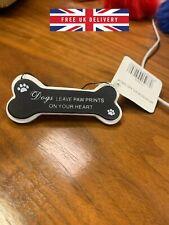 Dog bone shape hanging wall plaque/sign Various nice Versus 10cm x 4cm PET