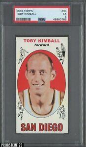 1969 Topps Basketball #39 Toby Kimball San Diego PSA 5 EX