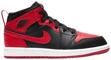 "Pre-School Air Jordan 1 Mid ""Banned"". Style: 640734-074. US Size 3Y."