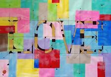 "ART Painting ""JUST LOVE"" . Original by Artist . canvas wall Art . CONTEMPORARY"