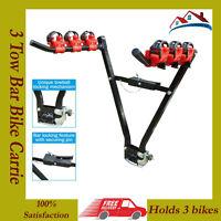 H-DUTY 3 Bike Rear Tow bar Mount Cycle Bicycle Carrier Car Rack Tow Bar Tow ball