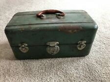 Estate Vintage Collectible Fishing Tackle Box Union Steel Chest 2 Drawers