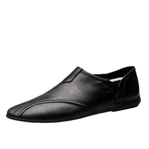 Men Leather Shoes Casual Loafers Shoes Breathable Flats Shoes Men Driving Shoes