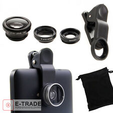 3 IN 1 Linse Set Handy-Kamera Fisheye/Fischauge+ Makro+ Weitwinkel-Objektiv Lens