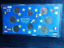E-8: EURO COIN SET, GREECE, 2002
