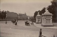 ND, Bruxelles, Le Palais du Roi  Vintage albumen print. Belgium Tirage albumin