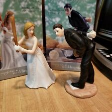 Baseball Wedding Cake Topper Bride and Groom by Weddingstar