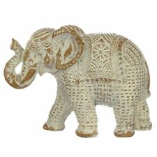 More details for brushed white and gold small thai elephant figurine height 11 cm