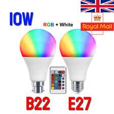 Bulbo del RGB LED Luz B22 Control Remoto Cambio De Color Lámpara Mágica Fiesta Disco 10W