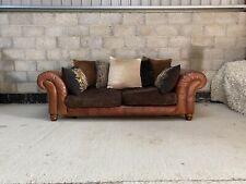 Tetrad Degas Midi Sofa in Aged Leather & Fabric