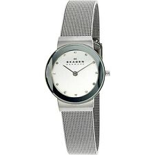 Skagen Damen klassisch 358SSSD silber Edelstahl Quarz Kleid Armbanduhr