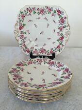 Shelley Haddon Bread & Butter Cake Plate & Six Tea Side Plates