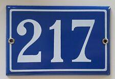 217 vintage number sign Steel enamel door gate address plaque