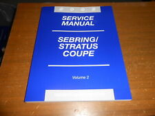 NOS NEW Service Manual 2002 Sebring Stratus Coupe Volume 2 Wiring Engine Frame