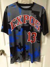 Vintage Mountain Expos Hurd # 13 Travel League Pullover Baseball Jersey Men L