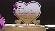 Personalised 18th 21st Daughter Any Age Birthday Present Gift Heart Keepsake