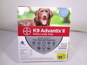 Bayer K9 Advantix II Extra Large Dog 1 Monthly Dose *READ* [VS-B]