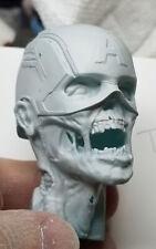 1/6 Zombie Captain America Headsculpt Unpainted Hot Toys Figure Alternate Custom