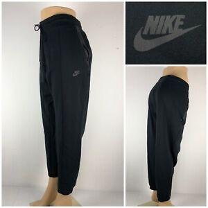 Nike Tech Fleece Womens 2X Jogger Pants Black Cotton Blend Gym 863124 010 EUC