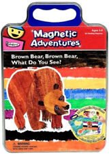 NEW TIN Eric Carle Brown Bear What Do You See - 30 Magnetic Pieces 4 Play Scenes