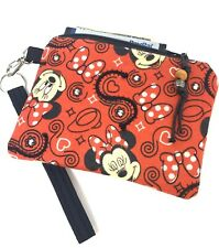 New listing Minnie-Mouse-Red-Fun-Ha ndmade-Money-Coin-Id-Credi t Card-Wristlet-Purse-Pouch