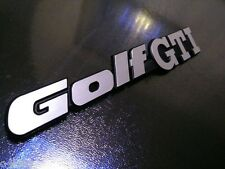 "MK2 GOLF REAR PANEL ""GOLF GTI"" badge! BRUSHED CHROME"