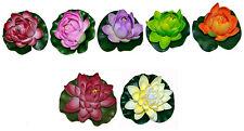 2x Artificial Water Lily Aquarium Decoration Pond Plant Teichrosen Water Lilies