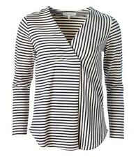 THOUGHT CLOTHING JERSEY STRIPED RONAN LONG SLEEVE TOP ORGANIC COTTON SIZE 12