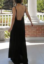 Maxi dress w/spaghetti straps and open back detail by Lauren Moshi, XS, multi