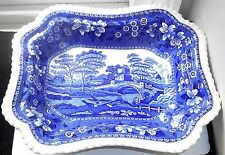 ANTIQUE SPODE COPELAND SPODE'S BLUE TOWER SERVING DISH