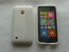 Custodia cover case per nokia lumia 530 in silicone tpu white S-line bianca