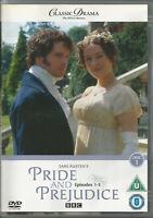 Pride and Prejudice (DVD) Episodes 1-3  sealed