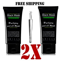 2X PACKS SHILLS Deep Cleansing Black Mask Peel-off Facial Clean Blackhead 50 ML