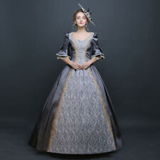 Womens Victorian Period Ball Gown Theare Cosplay Lace up Dress Palace Costumes F