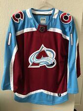Varlamov #1 NHL Colorado Avalanche Adidas Replica Jersey Sakic Fits Like MD-LG