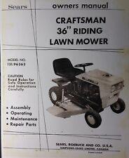 Sears Craftsman 36 Riding Lawn Mower Tractor Owner & Parts Manual 36pg 131.96363