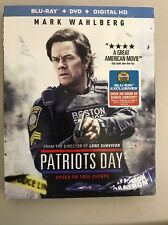 Patriots Day (Blu-ray Disc, 2017, 2-Disc Set)+ Slipcover