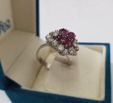 585er Weissgold Ring mit 2.0ct Diamanten/Brillanten und 1,0ct Rubinen 14Karat