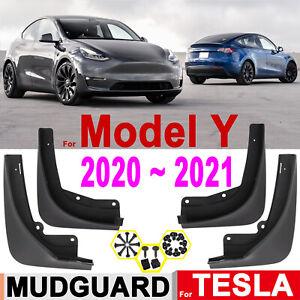 4PCS Mud Flaps Splash Guard Durable Mudguard Styling For Tesla Model Y 2020 2021