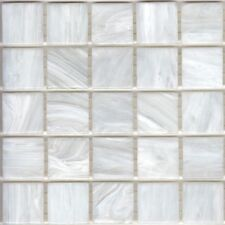 25pcs SM01 White Bisazza Smalto Italian Glass Mosaic Tiles 2cm x 2cm