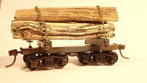 HO Skeleton Log Car Kit: makes 3 x 29' cars with wheels, couplings, brake detail