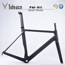 Full Carbon Bike Frame+Fork+Seatpost+Clamp+Headset BSA Carbon Road Frames 54cm