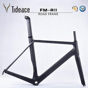 Road Racing Carbon Fiber 700C Bicycle Frames BSA 49/51/54/56/58cm Bike Frameset
