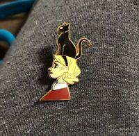 Little Witch Black Cat Broom Sabrina Halloween Sabbath Enamel Pins Badges Brooch