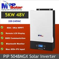 (MGX) 5000w Solar inverter 48v 230vac MPPT solar charger 80A 450V PV BMS support