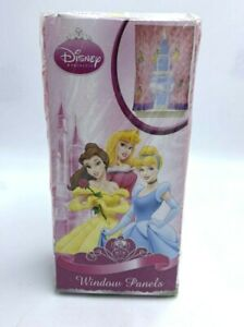 NEW Disney Princess Walk In The Park Window Panels Tie Back Pair Pink Purple