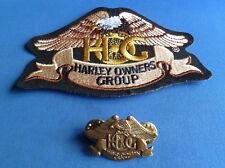 HARLEY DAVIDSON  HOG PATCH & HOG Lapel Badge