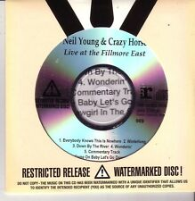 "Neil young & Crazy Horse ""Live at the Fillmore East promo CD sealed rare"