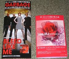 Garbage Japan Promo Only leaflet x 2 set Booklet Shirley Manson Butch Vig flyer